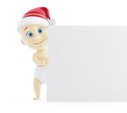 Baby santa hat form Stock Image