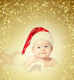Baby with Santa hat Royalty Free Stock Image