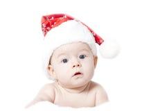 Baby with Santa hat Stock Photos
