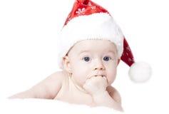 Baby with Santa hat Royalty Free Stock Photo