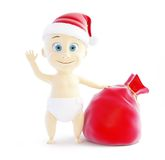 Baby santa hat, santa bag Stock Image