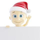 Baby santa hat Stock Photos