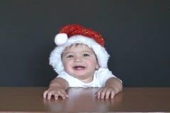 Baby Santa laugh stock video footage