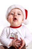 Baby in Santa's hat Royalty Free Stock Photos