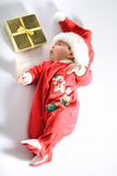 Baby in santa wear Royalty Free Stock Images