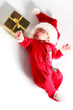 Baby in santa wear Stock Photo