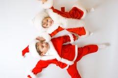 Baby Santas Stock Photo