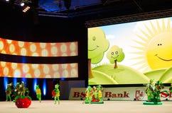 'Baby-Schale - die Wettbewerbe der BSB-Bank' Kinder in der Gymnastik, am 5. Dezember 2015 in Minsk, Weißrussland Stockbild