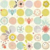 Baby-Schmetterlings-nahtloses Muster Stockbilder
