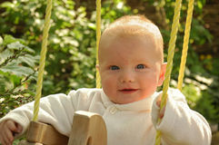 Baby in Schommeling Royalty-vrije Stock Foto