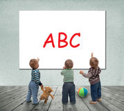 Baby school Royalty Free Stock Images