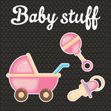 Baby scrapbook icon collection Stock Photography