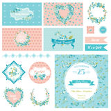 Baby Scrapbook Party Set Stock Photos