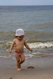Baby and sea Stock Photography