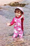 Baby in the sea Stock Photos