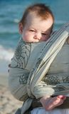 Baby on sea background Stock Images