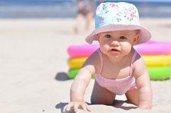 Baby at the sea Stock Images