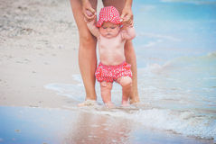 Baby on the sea Royalty Free Stock Photo