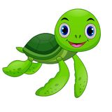 Baby sea turtle cartoon royalty free illustration