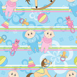 Baby seamless background Royalty Free Stock Image