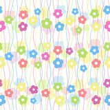 Baby seamless background. Colorful baby floral seamless background,  illustration Stock Photo