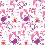 Baby seamless background. Baby background with bears Royalty Free Stock Photography