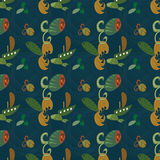 Baby seamless background with fishes and nave Stock Images