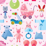 Baby seamless pattern. Vector,illustration Royalty Free Stock Image