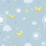 Baby seamless pattern Royalty Free Stock Photography