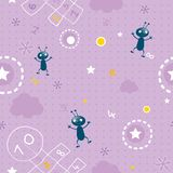 Baby seamless pattern Royalty Free Stock Images
