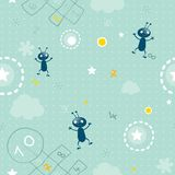 Baby seamless pattern Stock Photography