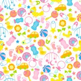 Baby Seamless Pattern Background Royalty Free Stock Image