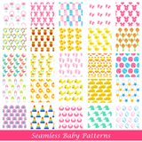 Baby Seamless Pattern Background Stock Photos
