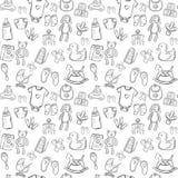 Baby seamless pattern background set Royalty Free Stock Photos