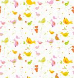 Baby seamless pattern with birds. Stock Photo