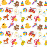 Baby seamless pattern. With colored icons. Vector illustration Royalty Free Stock Images