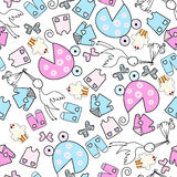 Baby seamless pattern Stock Images