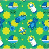 Baby seamless pattern for little boys royalty free illustration