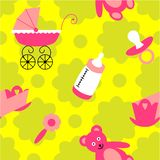 Baby seamless pattern for little girls vector illustration