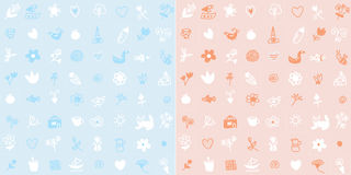 Baby seamless pattern simple cute design Stock Images