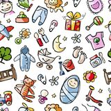 Baby seamless pattern for your design Royalty Free Stock Images