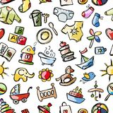 Baby seamless pattern for your design Royalty Free Stock Photography