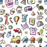 Baby seamless pattern for your design Stock Photography