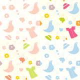 Baby seamless patterns set Royalty Free Stock Images