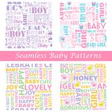 Baby Seamless Typography Pattern Royalty Free Stock Image