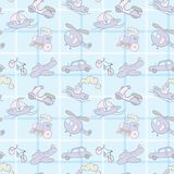 Baby Seamless Wallpaper Transportation Royalty Free Stock Photo