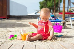 Baby at the seaside Royalty Free Stock Photography