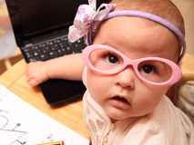 Baby secretary Royalty Free Stock Image