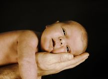 Baby in sepia Royalty Free Stock Photography