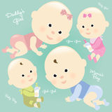 Baby Set 2 Isolated Stock Image